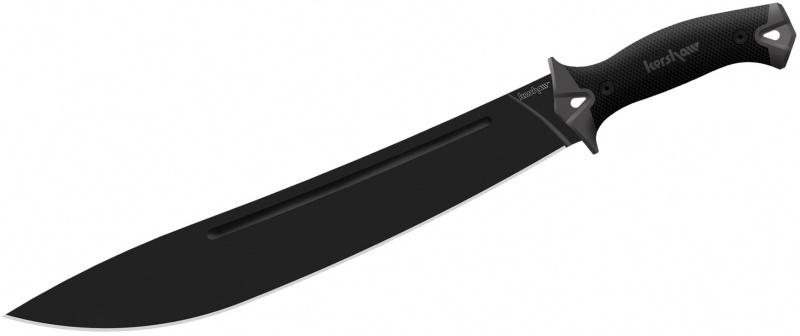 มีดใบตาย Kershaw Camp 14 Fixed Blade, Sure-Grip Handles (1076)