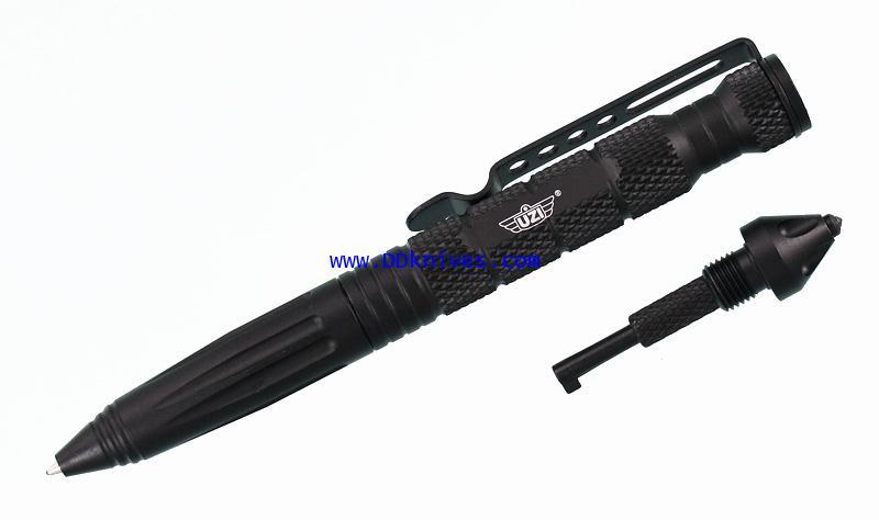 ปากกาแทคติคอล UZI Tactical Defender Pen 6 w/ Breaker Tip  Hand, Black (UZI-TACPEN6-BK)