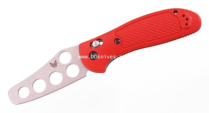 มีดซ้อม Benchmade Griptilian Trainer Unsharpened Blade, Red Handle (550T)