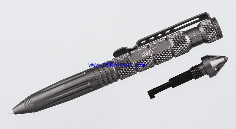 ปากกาแทคติคอล UZI Tactical Defender Pen 6 w/ Breaker Tip Hand, Gun Metal (UZI-TACPEN6-GM)