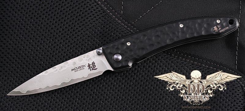มีดพับ Mcusta Tsuchi Large, Black Aluminum Handle Damascus (MC-114BD)