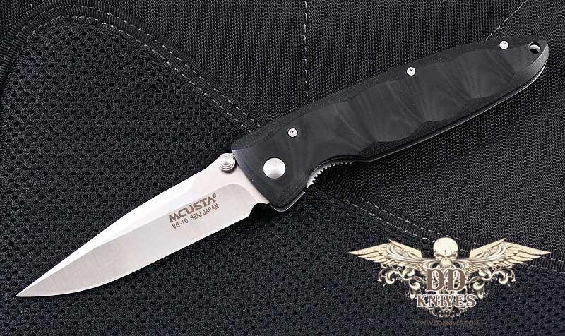มีดพับ Mcusta MC-1 Series Basic Folder - Black Micarta Handle, VG10 Blade (MC-0012)