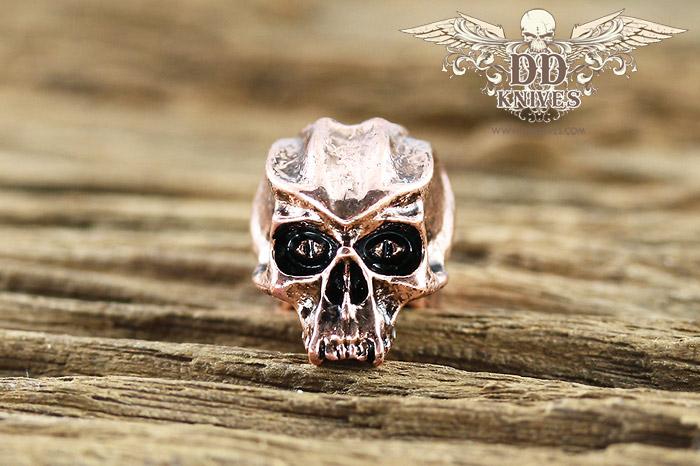 หัวกระโหลกสำหรับแต่ง Lanyard Schmuckatelli Cyber Skull Bead, Antique Copper Plated (CYAC)