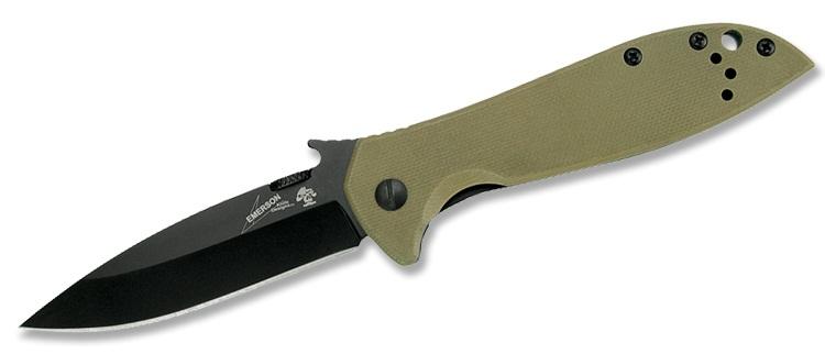 มีดพับ Kershaw Emerson CQC-4K Black Blade, Brown G10 and Stainless Steel Handle (6054BRNBLK)