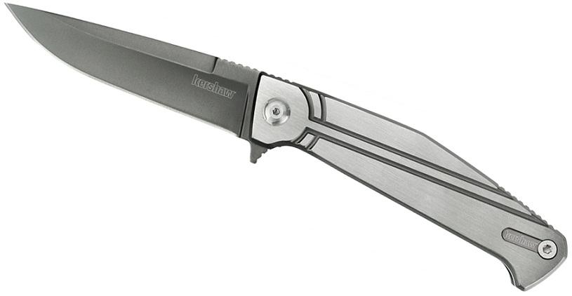 มีดพับ Kershaw Nura 3.5 Plain Blade, Stainless Steel Handles (4035TIKVT)