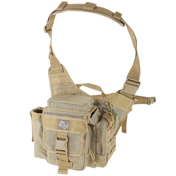 กระเป๋าสะพายข้าง Maxpedition Jumbo E.D.C., Khaki (9845K)