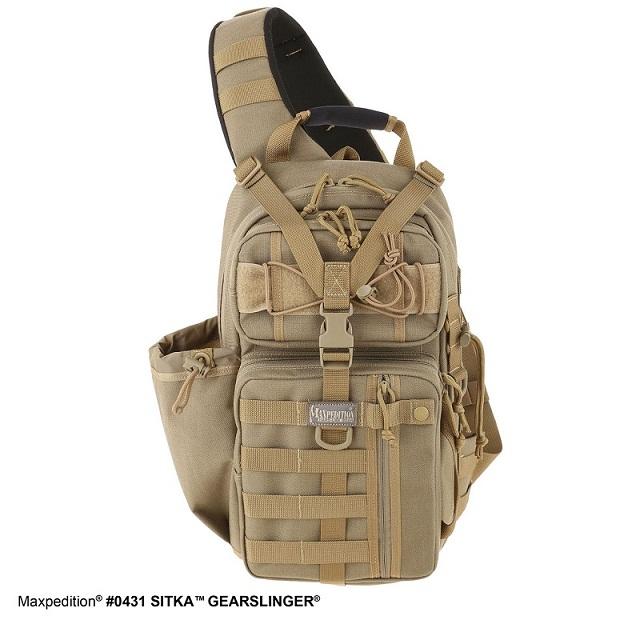 กระเป๋า Maxpedition Sitka Gearslinger Backpack, Khaki (0431K)