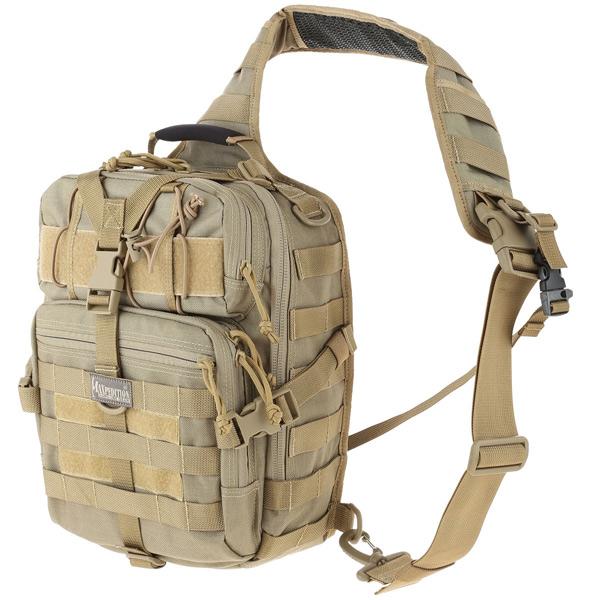 กระเป๋าเป้สะพายหลัง Maxpedition Malaga Gearslinger Backpack, Khaki (0423K)