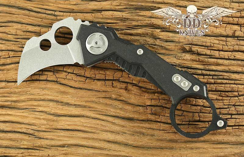 มีดคารัมบิท Quartermaster QTR-2F B.A. Baracas Karambit, Frame Lock, G10 and Titanium Handles