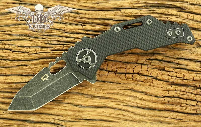 มีดพับ Quartermaster QTR-3FTT Texas Tea Templeton Black Stonewashed Tanto Blade