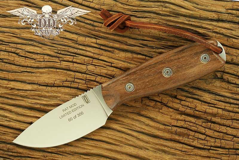 มีดใบตาย Ontario Limited Edition RAT 3 Hunter Fixed D2 Satin Blade, Walnut Wood Handles (8646)