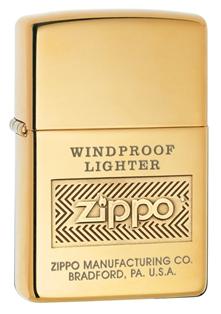 ไฟแช็ค Zippo Windproof High Polish Brass (28145)