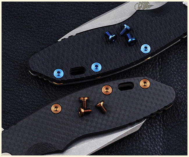 Rick Hinderer Knives Titanium XM Handle Screws for XM-18 3.5 and XM-24 -BLUE