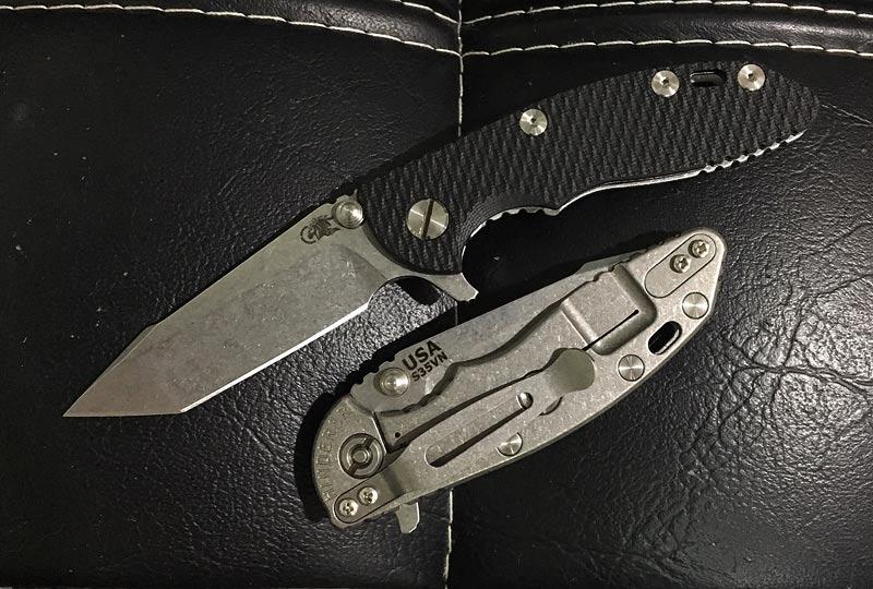 มีดพับ Rick Hinderer Knives 3.0 XM-18 Harpoon Tanto Flipper, Black G10 Handle