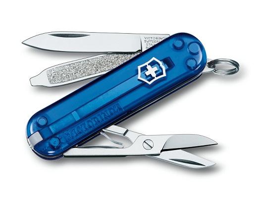 มีดพับ Victorinox Classic SD, Translucent Sapphire Handles (0.6223.T2)