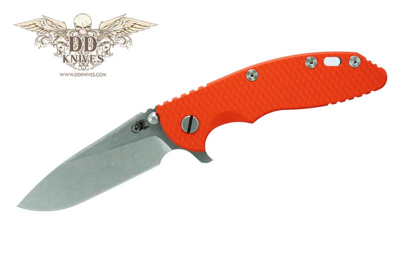 มีดพับ Rick Hinderer Knives 3.5 XM-18 Flipper, S35VN Slicer Blade, Orange G10 Handle