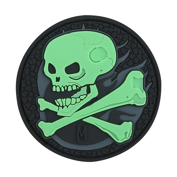 อาร์มติดกระเป๋า Maxpedition Skull Patch, GLOW (SKULZ)