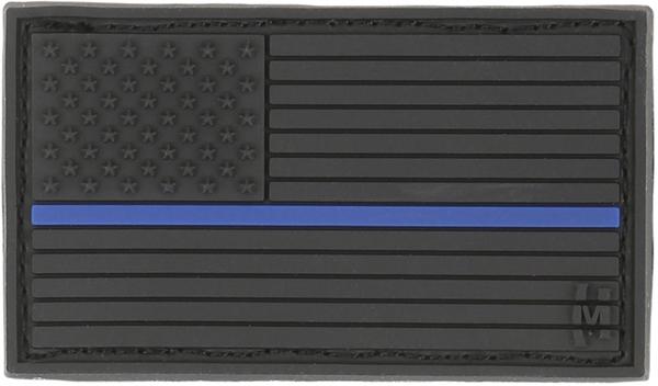 อาร์มติดกระเป๋า Maxpedition USA Flag Patch, LE Thin Blue Line (USA2L)
