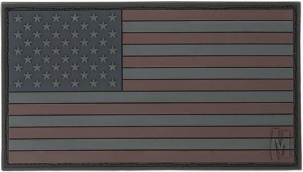 อาร์มติดกระเป๋า Maxpedition USA Flag Patch, Stealth (USA2X)