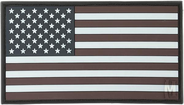 อาร์มติดกระเป๋า Maxpedition USA Flag Patch, GLOW (USA2Z)