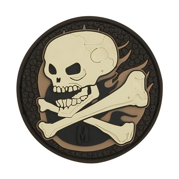 อาร์มติดกระเป๋า Maxpedition Skull Patch, Arid (SKULA)