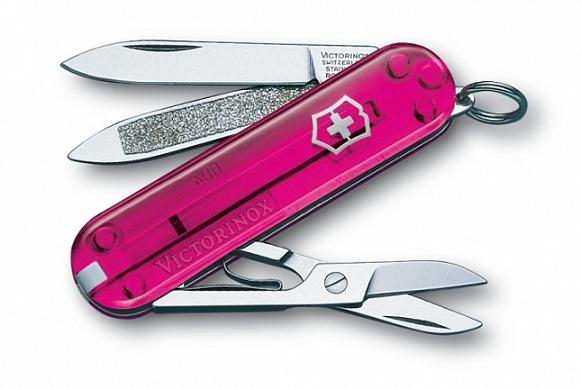 มีดพับ Victorinox Classic Rose Edition, Pink Translucent (0.6203.T5)