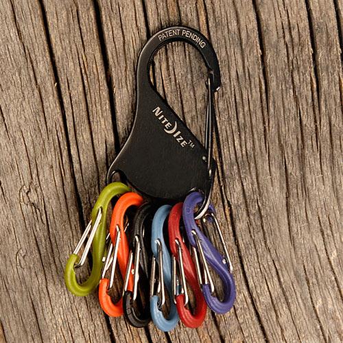 พวงกุญแจ Nite Ize S-Biner KeyRack, Black (KRK-03-01)