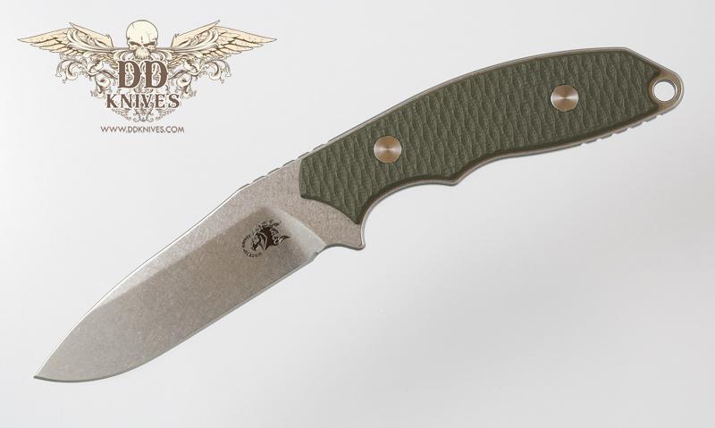 มีดใบตาย Rick Hinderer Knives Flashpoint S35VN Spear Point Blade, OD Green G10 Handles, Kydex Sheath