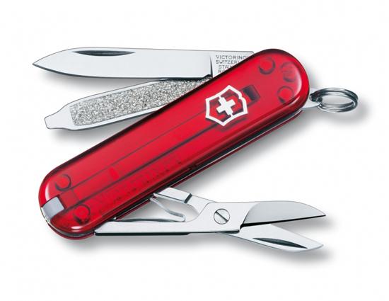 มีดพับ Victorinox Classic SD, Translucent Red Handles (0.6223.T)