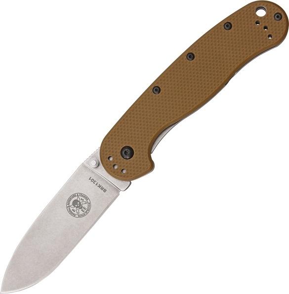 มีดพับ ESEE Avispa Folding Knife Stonewashed D2 Blade, Coyote FRN Handles (BRK1302CB)