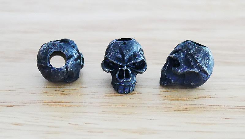 หัวกระโหลกสำหรับแต่ง Lanyard Schmuckatelli Emerson Skull Lanyard Bead, Black Oxidized (EB)