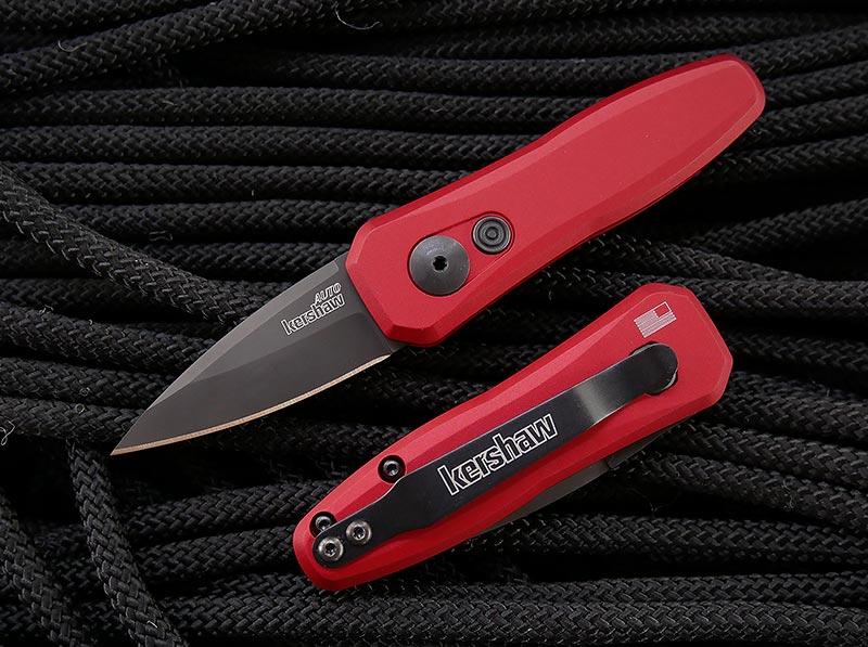 มีดออโต้ Kershaw Launch 4 AUTO, CPM-154 Black DLC Blade, Red Aluminum Handles (7500RDBLK)