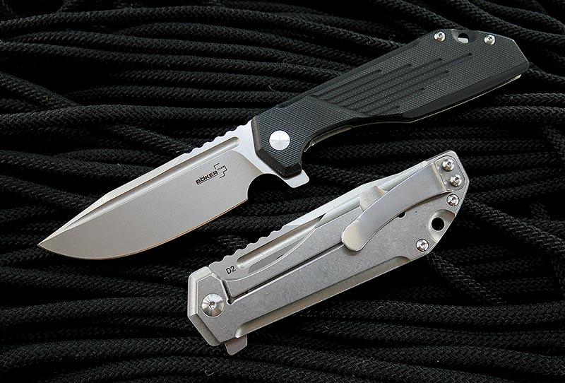 มีดพับ Boker Plus JB Stout Lateralus Flipper D2 Stonewashed Blade, Black G10 Handle (01BO778)