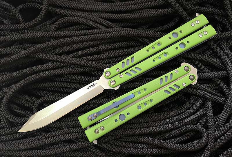 มีดบาลิซอง BRS Premium Replicant ALT Balisong Butterfly Knife, Green G-10/Blue