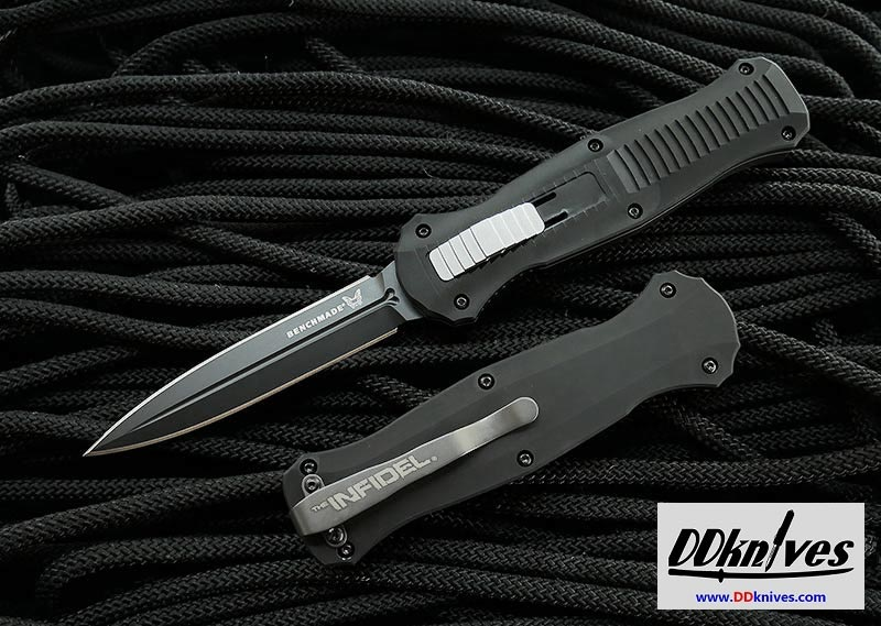 มีดออโต้ OTF Benchmade Infidel AUTO OTF Black Finish Double Edge Dagger (3300BK)