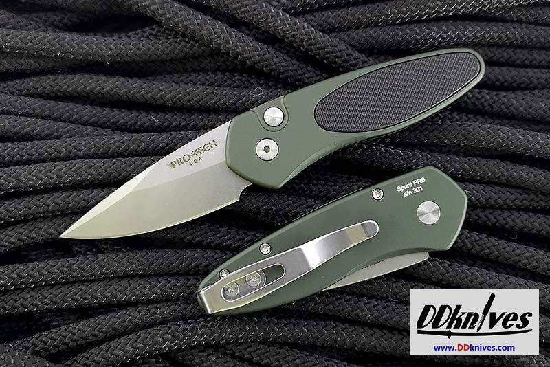 มีดออโต้ Pro-Tech Sprint AUTO Folding Knife, S35VN Blade, Green with Black G10 Inlay (2944)