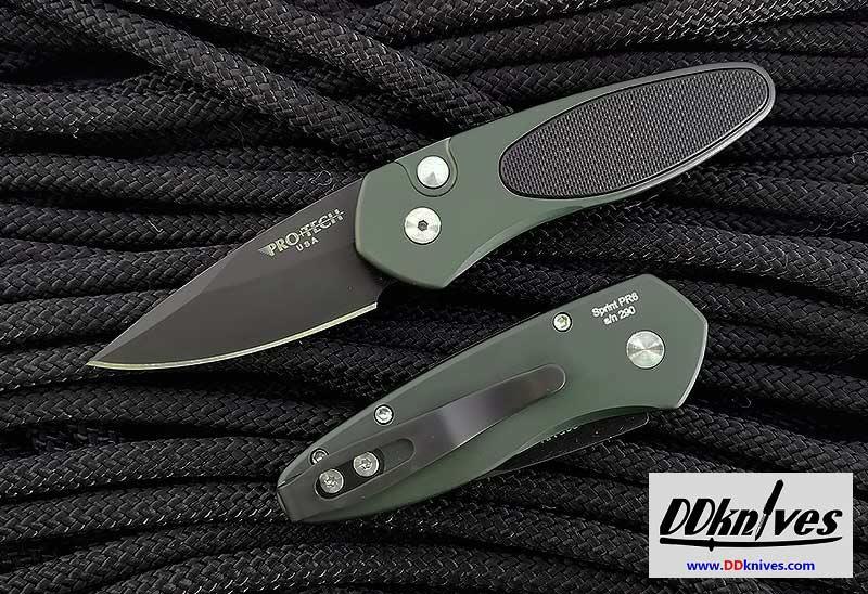 มีดออโต้ Pro-Tech Sprint AUTO Folding Knife, S35VN Black Blade, Green with Black G10 Inlay (2945)