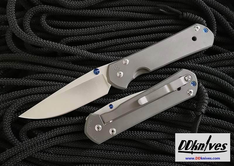 มีดพับ Chris Reeve Large Sebenza 21 S35VN Stonewashed Drop Point Blade, Titanium Handles (L21-1000)