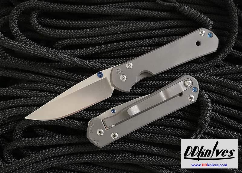มีดพับ Chris Reeve Small Sebenza 21 S35VN Stonewashed Drop Point Blade, Titanium Handles (S21-1000)