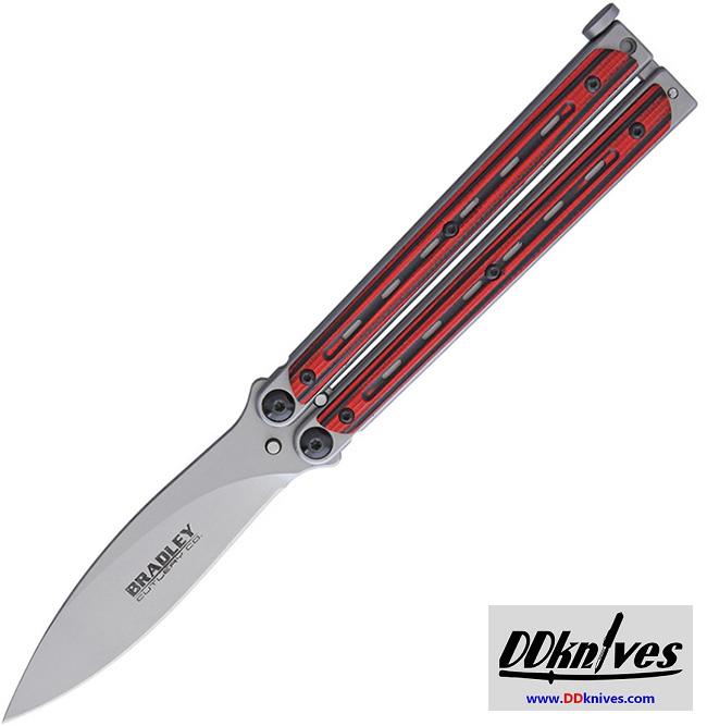 มีดบาลิซอง Bradley Kimura Balisong Butterfly Knife, Spear Point Blade, Red/Black G10 Handles(BCC904)