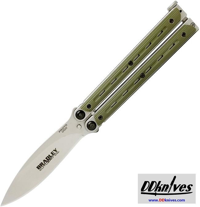 มีดบาลิซอง Bradley Kimura Balisong Butterfly Knife, Spear Point Blade, OD Green G10 Handles (BCC901)