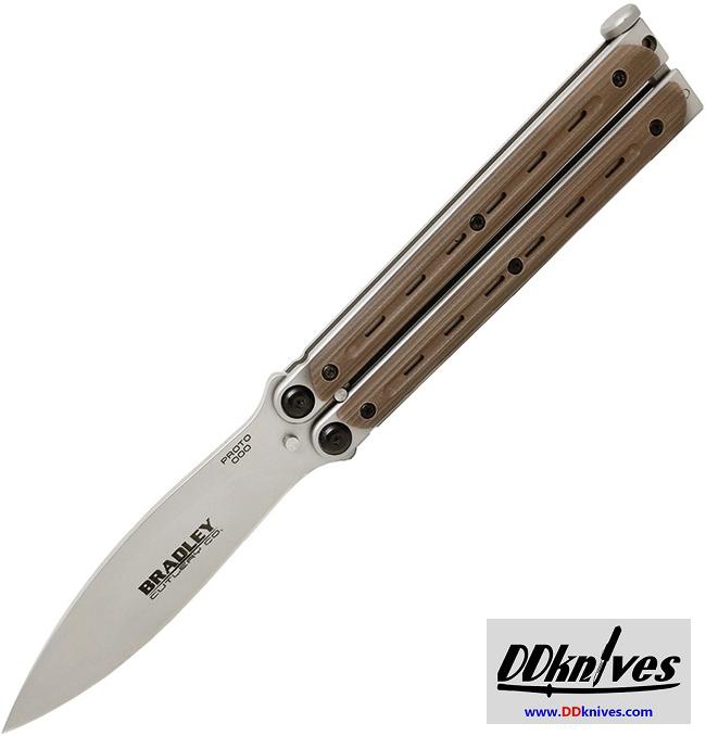 มีดบาลิซอง Bradley Kimura Balisong Butterfly Knife, Spear Point Blade, Coyote G10 Handles (BCC902)