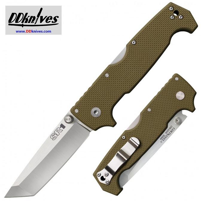 มีดพับ Cold Steel SR1 Folding Knife S35VN Tanto Blade, OD Green G10 Handles (62LA)