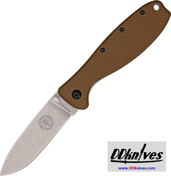 มีดพับ ESEE Zancudo Stonewashed D2 Blade, Coyote FRN and Stainless Steel Handles (BRKR2CB)