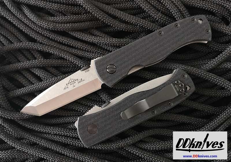 มีดพับ Emerson CQC-7B Folding Knife Stonewash Plain Tanto Blade, G10 Handles (C7B-SF)