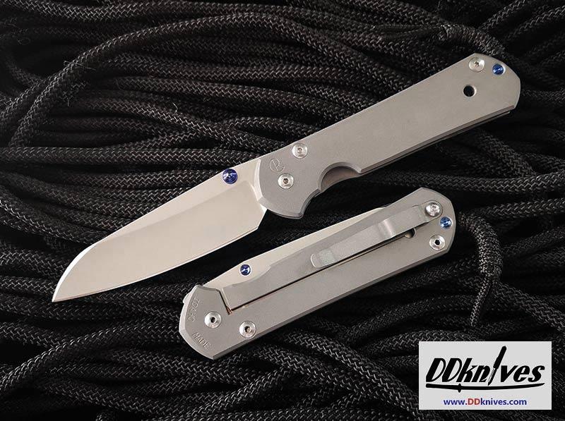 มีดพับ Chris Reeve Large Sebenza 21 Insingo S35VN Stonewashed Blade, Titanium Handles (L21-1008)