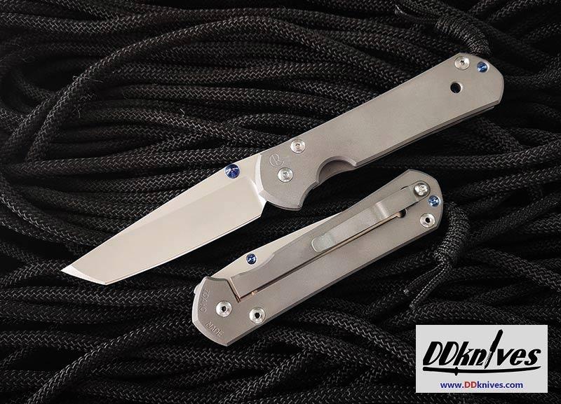 มีดพับ Chris Reeve Large Sebenza 21 S35VN Stonewashed Tanto Blade, Titanium Handles (L21-1010)