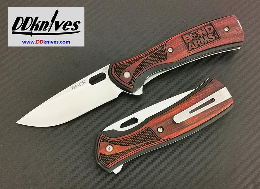 มีดพับ Buck Bond Arms S30V Satin Plain Blade, Rosewood Handles (346RWSBA)