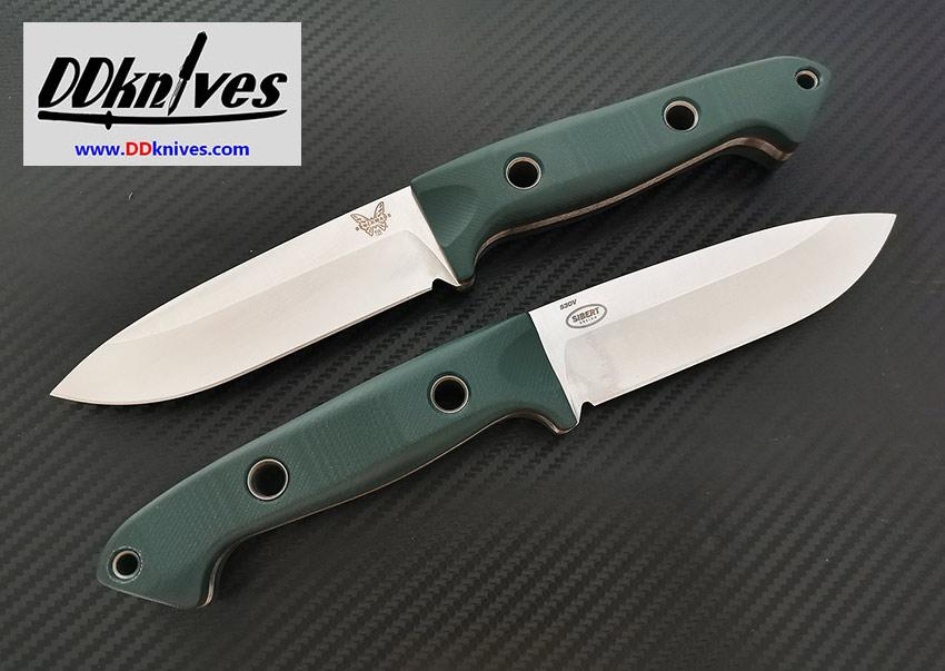 มีดใบตาย Benchmade Bushcrafter S30V Satin Blade, Green G10 Handles (162)