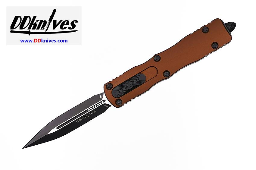 มีดออโต้ Microtech Dirac D/E OTF Automatic Knife Black Blade, Tan Handles (225-1TA)